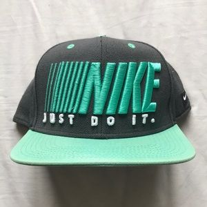 Teal and Navy Nike Cap